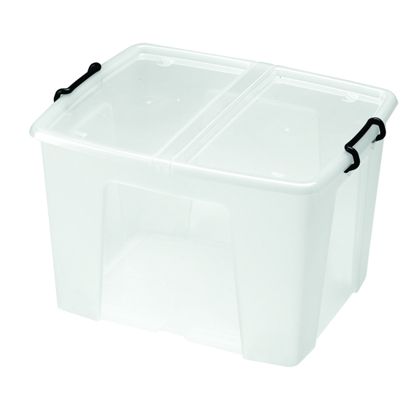 Storage Boxes Strata 65L Smart Box with Lid Clear HW686