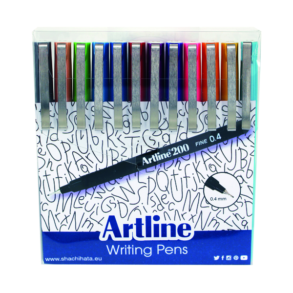 Assorted Artline EK200 Writing Pen Fashion Shades Assorted (12 Pack) EK200W12