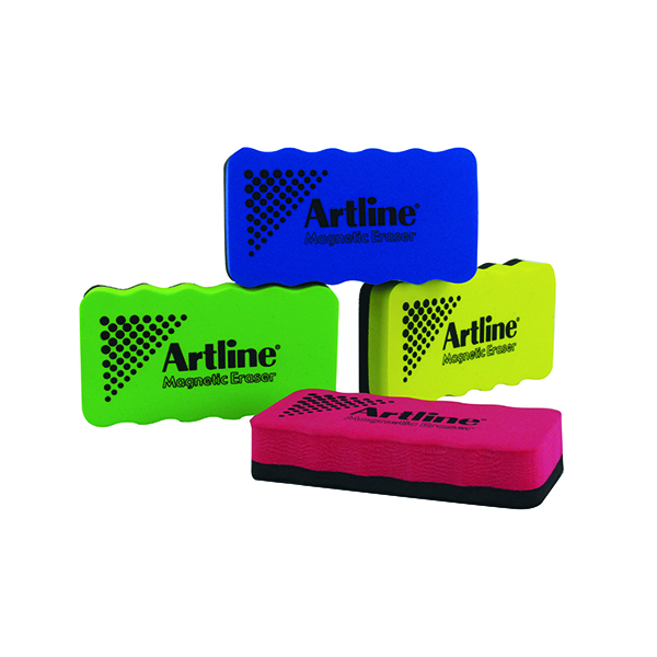 Cleaning/Erasing Artline Smiley Whiteboard Eraser Assorted (4 Pack) ERT-MMS-GB4