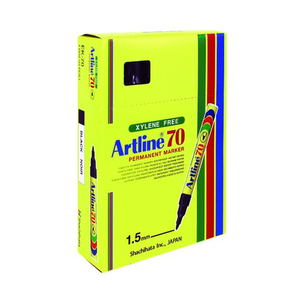 Bullet Tip Artline 70 Bullet Tip Permanent Marker Black (12 Pack) A701
