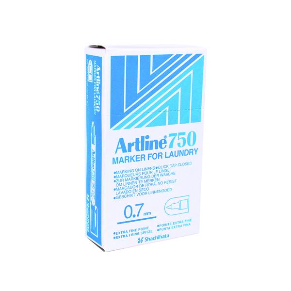 Bullet Tip Artline 750 Bullet Tip Black Laundry Marker (12 Pack) A750