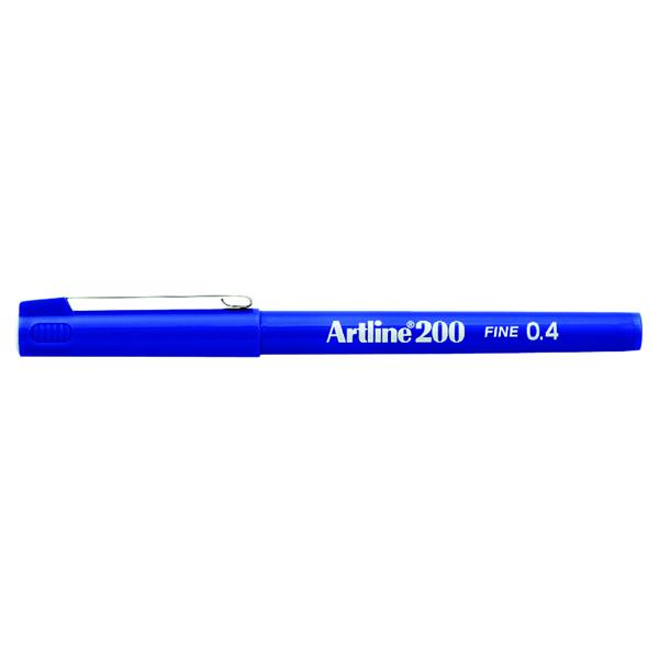 Blue Artline 200 Fineliner Pen Fine Blue (12 Pack) A2003