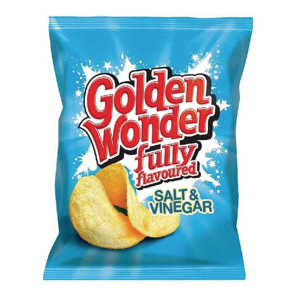 Unspecified Golden Wonder Salt and Vinegar Crisp (32 Pack) 121303