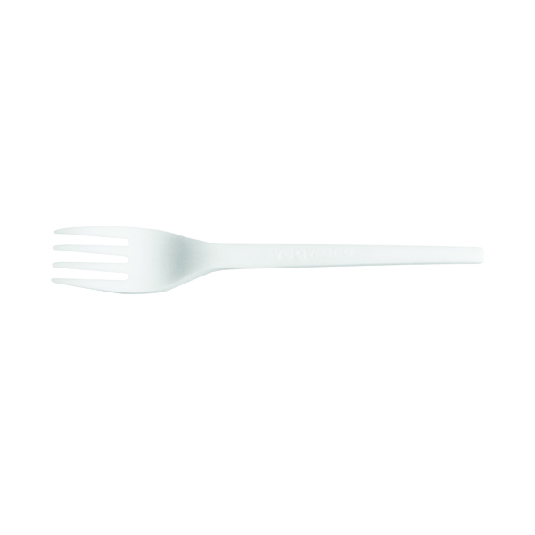 Cups/Mugs/Glasses Biodegradable and Compostable CPLA Cutlery Fork (50 Pack) NHLCPLAF1000