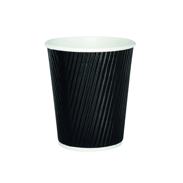 Cups/Mugs/Glasses 25cl Black Ripple Cup (500 Pack) HVRWBPA08