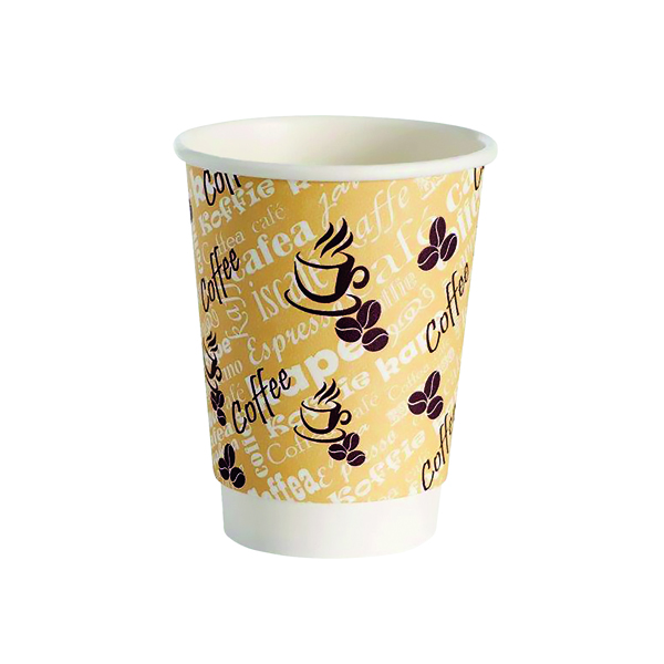 Cups/Mugs/Glasses 4Aces Double Wall 8oz Red Bean Paper Cup (500 Pack) HVDWPA08