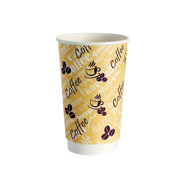 Cups/Mugs/Glasses 4Aces Double Wall 12oz Red Bean Paper Cup (500 Pack) HVDWPA12