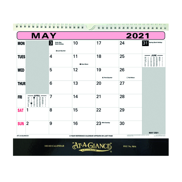 Unspecified At-A-Glance Flip Over Wall Calendar 2021 90M21