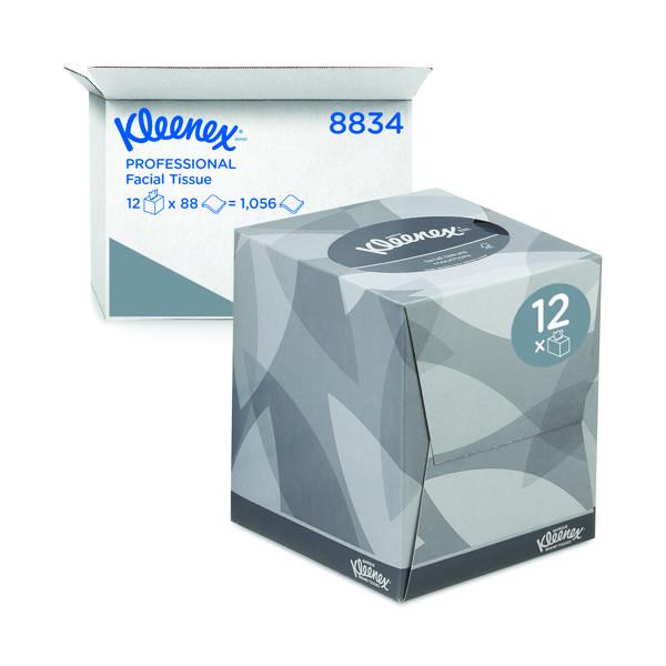 Facial Tissues Kleenex Facial Tissues Cube 90 Sheets (12 Pack) 8834
