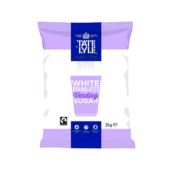 Sugar / Sweetener Tate & Lyle White Vending Sugar 2kg (6 Pack) A00696PACK