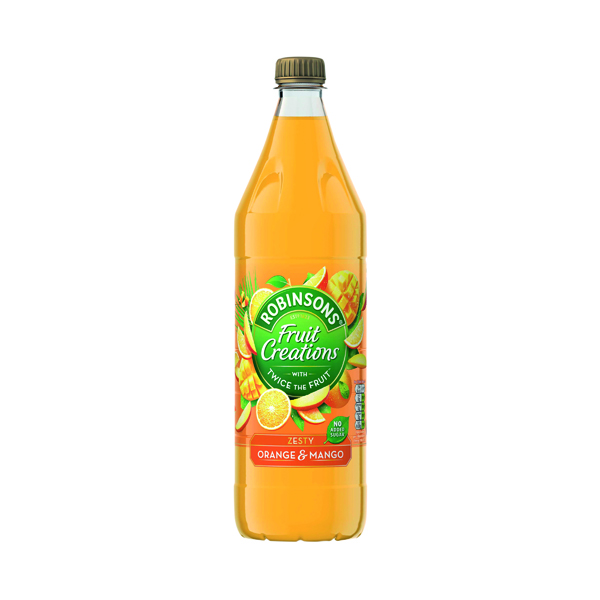 Cold Drinks Robinsons Fruit Creations Orange and Mango 1L 0402120