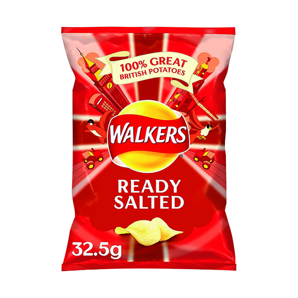 Unspecified Walkers Ready Salted Crisps 32.5g (32 pack) 121797