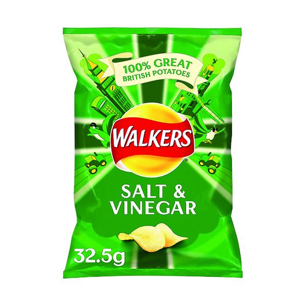 Unspecified Walkers Salt and Vinegar Crisps 32.5g (32 pack) 121795