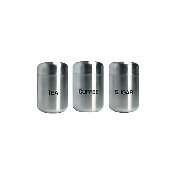 Kitchen Canisters Stainless Steel (3 Pack) DLCTCS