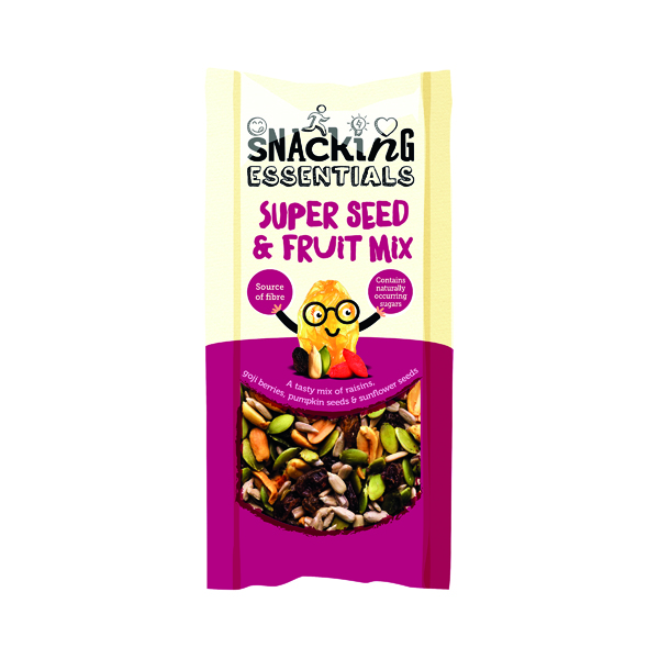Breakfast/Snacks Snacking Essentials Super Seed and Fruit Mix Shot Pack 40g (16 Pack) A08108