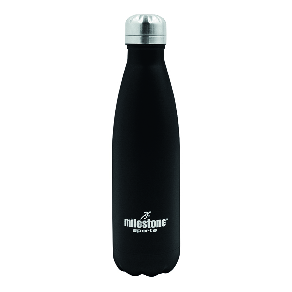 Water Drinking Bottle Double Walled Stainless Steel 500ml Black 52100