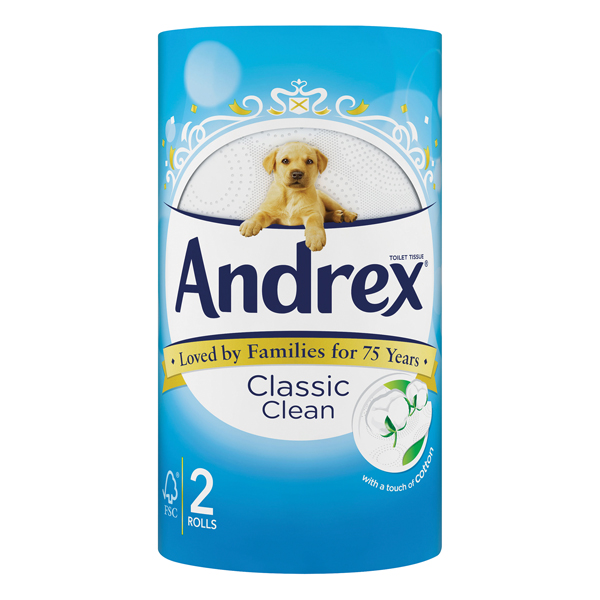 Andrex Classic Clean Toilet Roll (24 Pack) 75806
