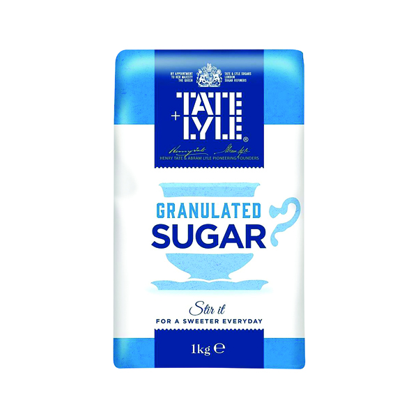 Sugar / Sweetener Tate and Lyle Granulated Sugar 1 kg (15 Pack) A06636