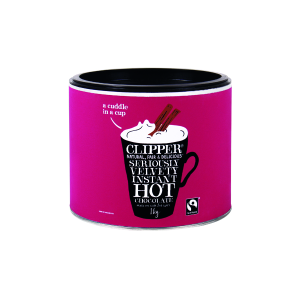 Hot Drinks Clipper Organic Fairtrade Hot Chocolate 1kg A06793