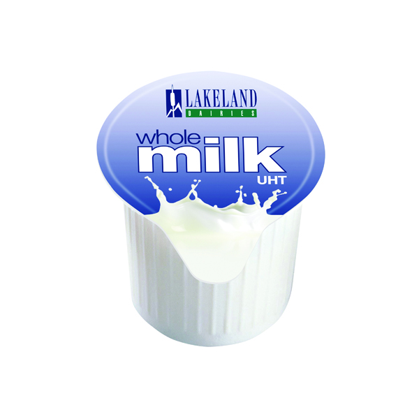 Milk Lakeland Full Fat Milk Pots (120 Pack) A01982