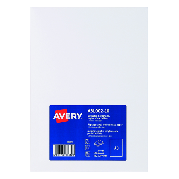 Unspecified Avery Premium Display Labels A3 (10 Pack) A3L002-10