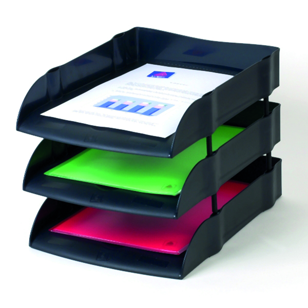 Letter Tray Avery DTR Eco Letter Tray Black DR100BLK