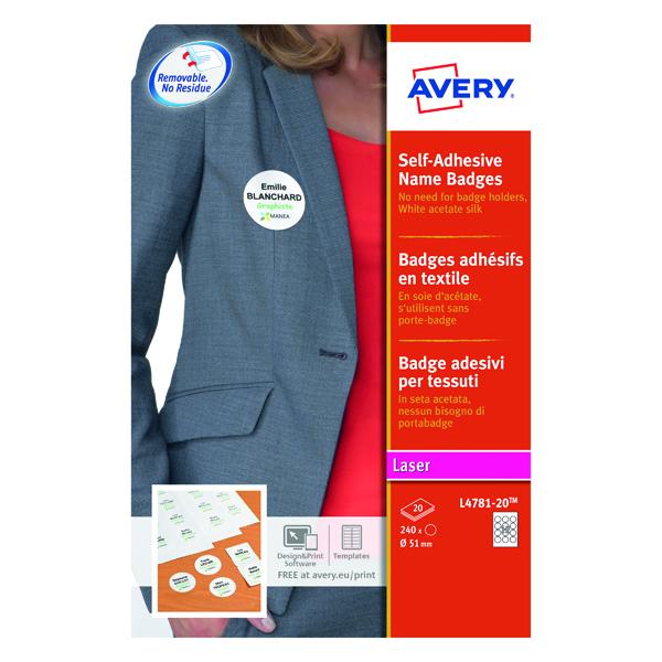 Avery Self-Adhesive Name Badges (240 Pack) L4781-20
