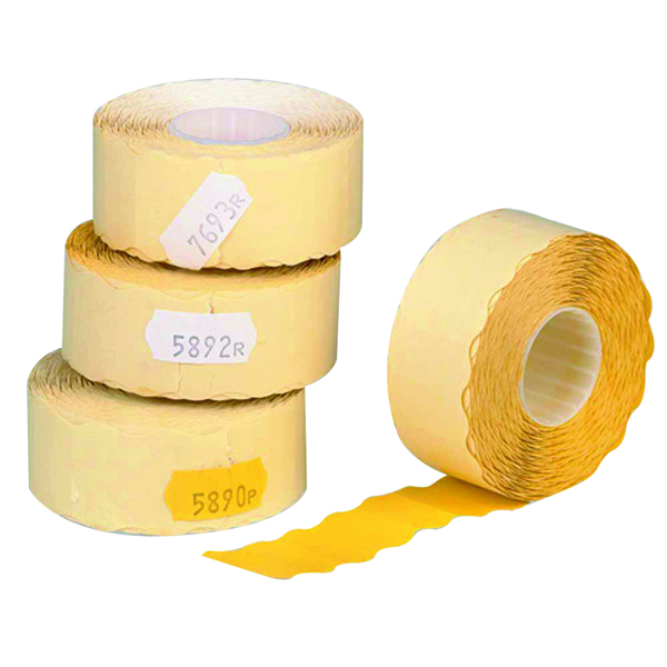 Re-Usable Avery Single-Line Price Marking Label Yellow 12x26mm (15000 Pack) YR1226
