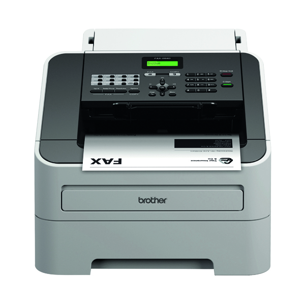 Fax Machines Brother FAX-2840 High-Speed Laser Fax Machine White FAX2840ZU1