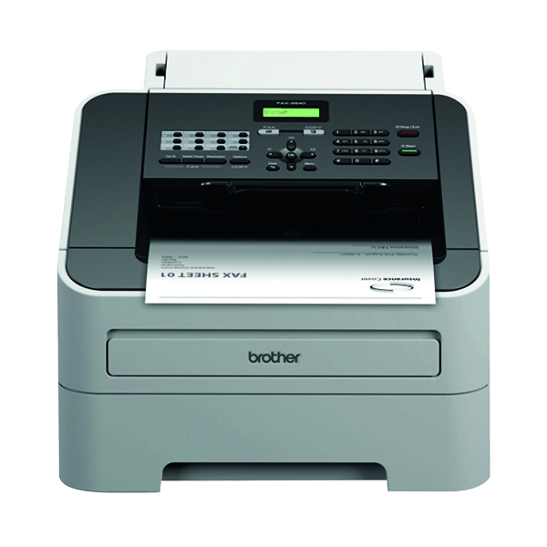 Fax Machines Brother FAX-2940 High-Speed Laser Fax Machine White FAX2940ZU1