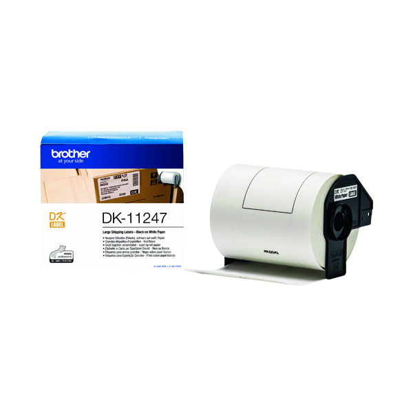 Unspecified Brother Black on White Shipping Label Roll 103 x 164mm DK-11247