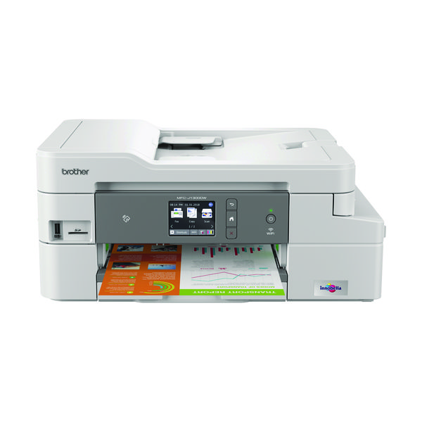 Inkjet Printers Brother MFC-J1300DW A4 Wireless 4-in-1 Colour Inkjet Printer MFC1300DWZU1