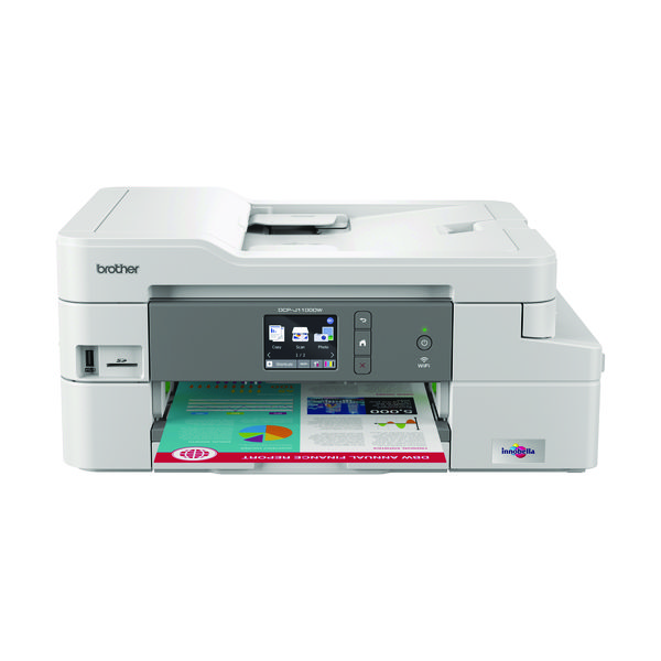 Inkjet Printers Brother DCP-J1100DW Wireless 3-in-1 Colour Inkjet Printer DCPJ1100DWZU1