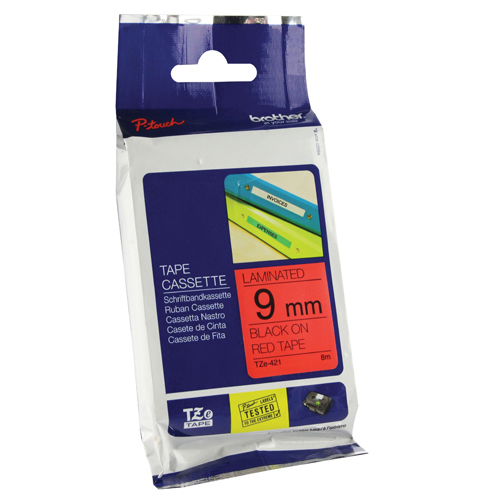 Unspecified Brother 9mm Black on Red TZE421 P-Touch TZe Labelling Tape