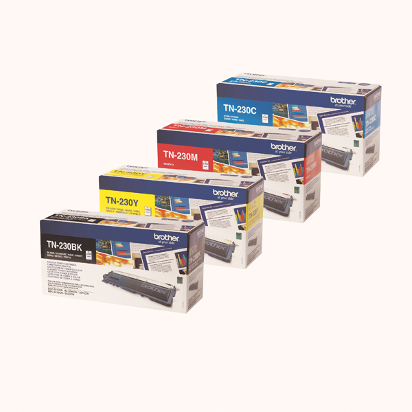 Brother TN230 Toner Cartridge Bundle Cyan/Magenta/Yellow/Black (4 Pack) BA810618