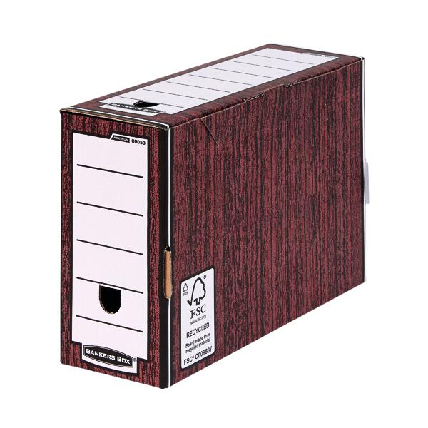 Bankers Box Woodgrain Premium Transfer Files (10 Pack) 0005302