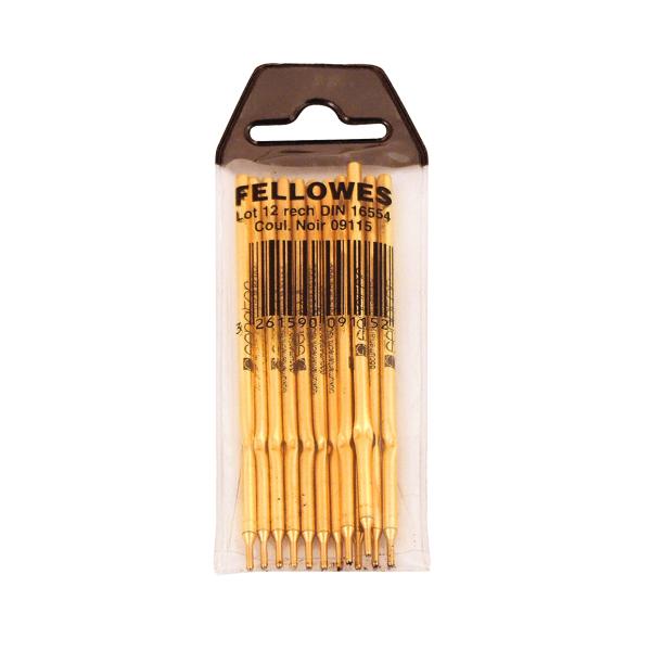 Fellowes Ballpoint Desk Pen and Chain Refill (12 Pack) 0911501