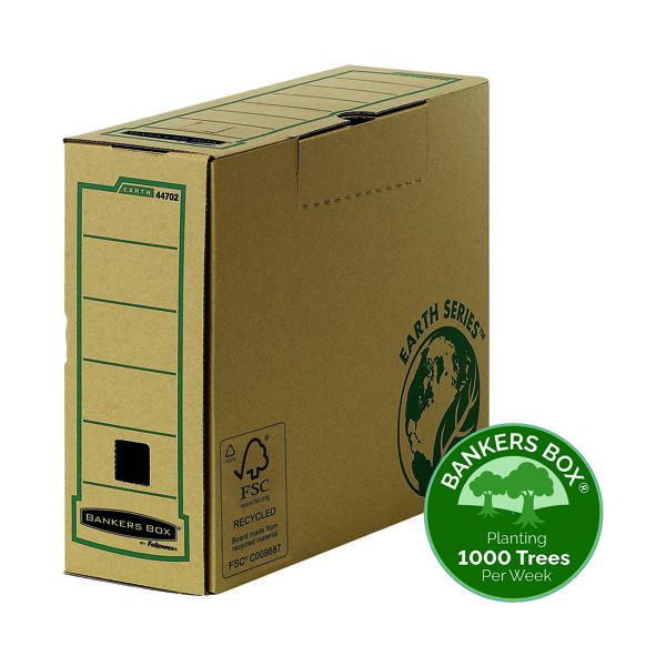 File Fellowes R-Kive Earth Transfer File Brown (20 Pack) 4470201