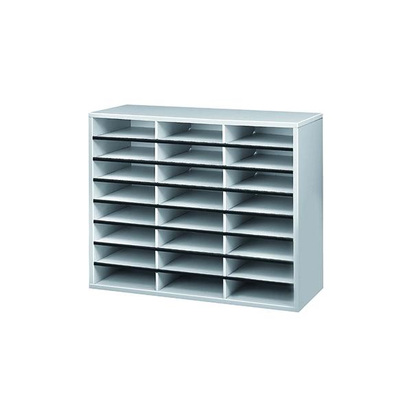 Post Boxes Fellowes 24 Compartment Literature Sorter A4 Dove Grey 25041