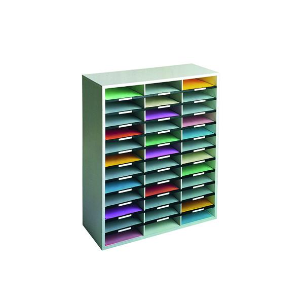 Post Boxes Fellowes 36 Compartment Literature Sorter A4 Dove Grey 25061