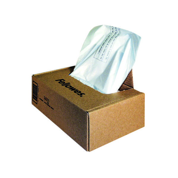 Bags/Sacks Fellowes Clear Shredder Bags C-385/C-485 (50 Pack) 36055