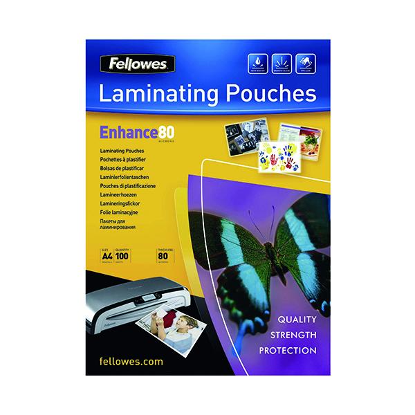Fellowes A4 Enhance Matt 160 Micron Laminating Pouch (100 Pack) 5452101