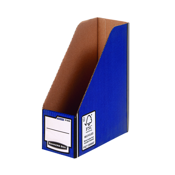 Magazine Files Fellowes Blue/White Bankers Box Premium Magazine File (10 Pack) 0722904