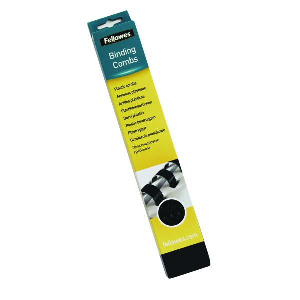 Binding Combs Fellowes Black A4 Binding Combs 16mm (100 Pack) 5347302