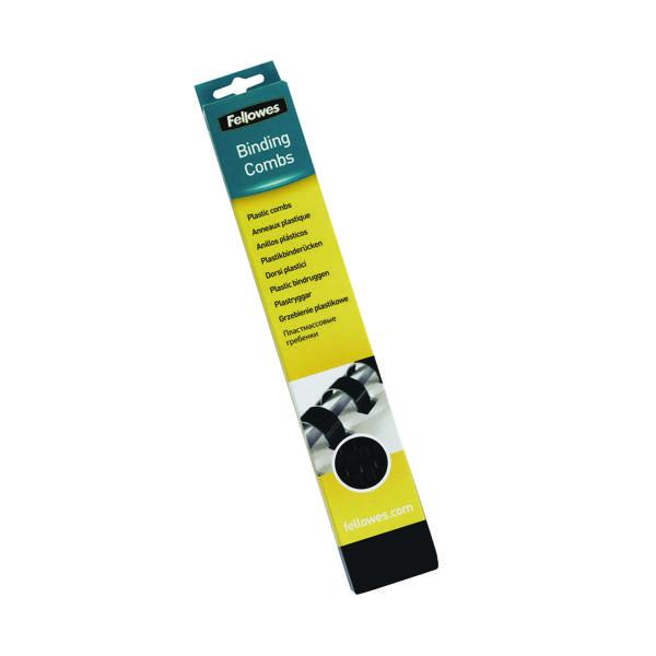 Binding Combs Fellowes Black A4 Binding Combs 28mm (50 Pack) 53489