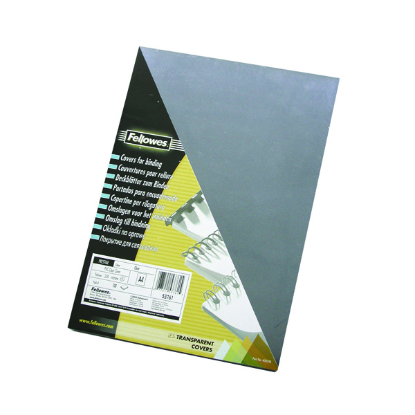 Unspecified Fellowes Transpsarent Plastic Covers 150 Micron (100 Pack) 5376001