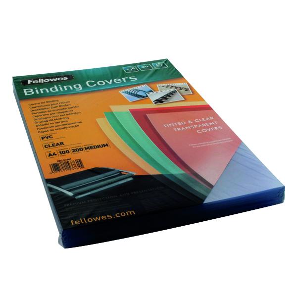 Fellowes Transpsarent Plastic Covers 200 Micron (100 Pack) 5376101