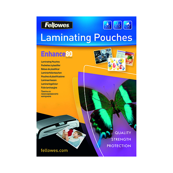 Laminating Film & Pockets Fellowes A4 Enhance Laminating Pouches 160 Micron (25 Pack) 53962