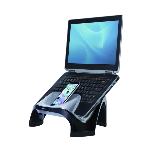 Unspecified Fellowes Smart Suites Laptop Riser with USB Hub Black/Clear 8020201