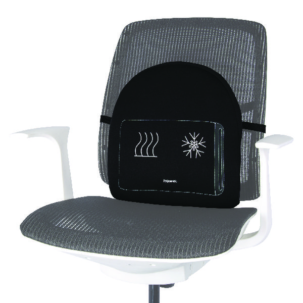 Seating Accessories Fellowes Professional Series Heat and Soothe Back Support Black 8041901